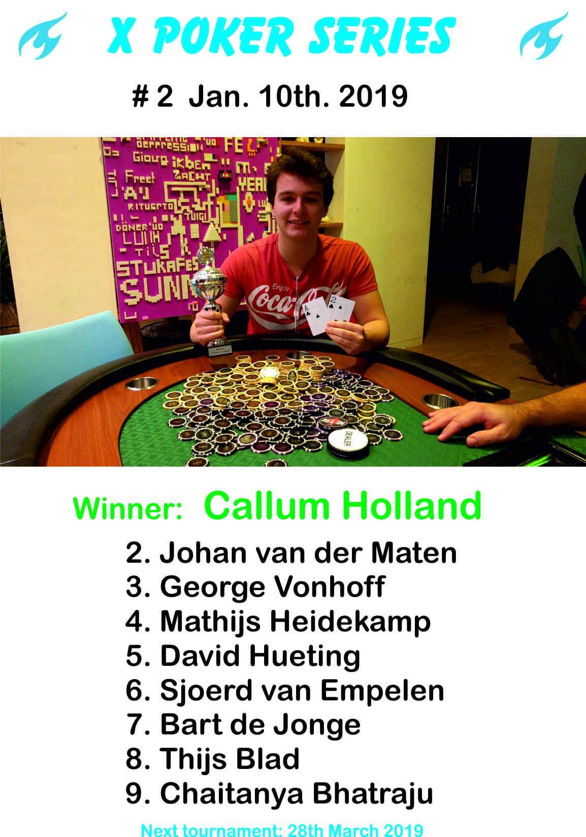 TU Delft X-Poker Series 2